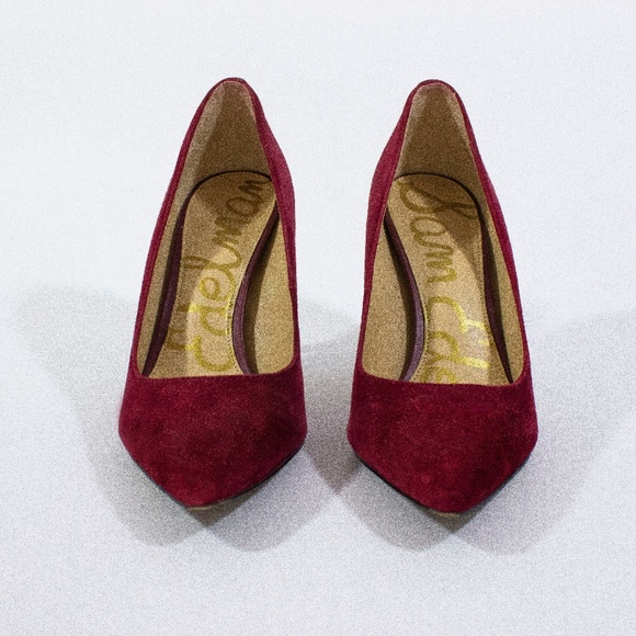 Sam Edelman Shoes - Sam Edelman - Deep Red Suede Pumps